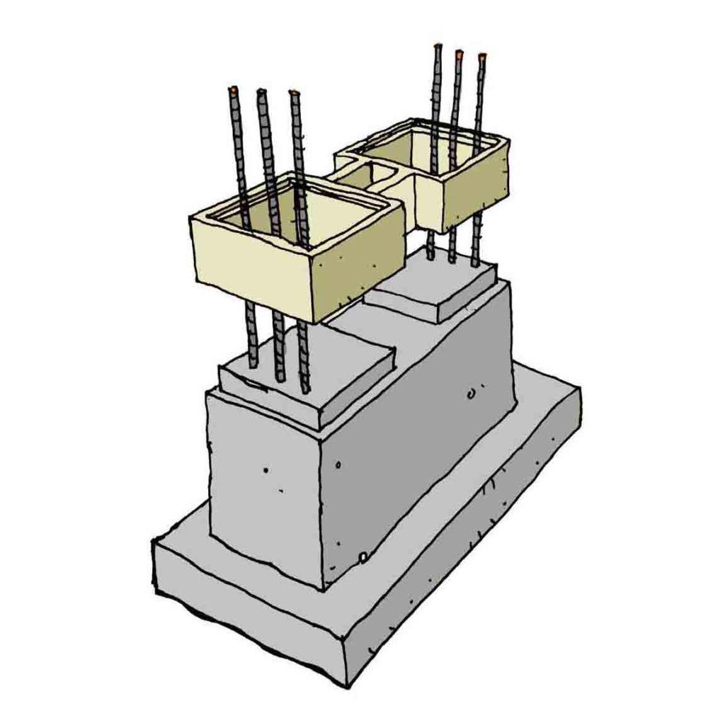 Module Pilastre Boisseau Banche