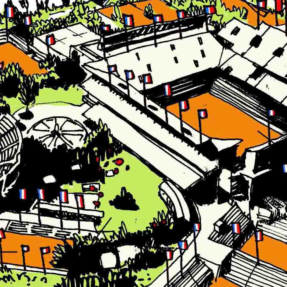 Roland-Garros théâtre de la  Democratie